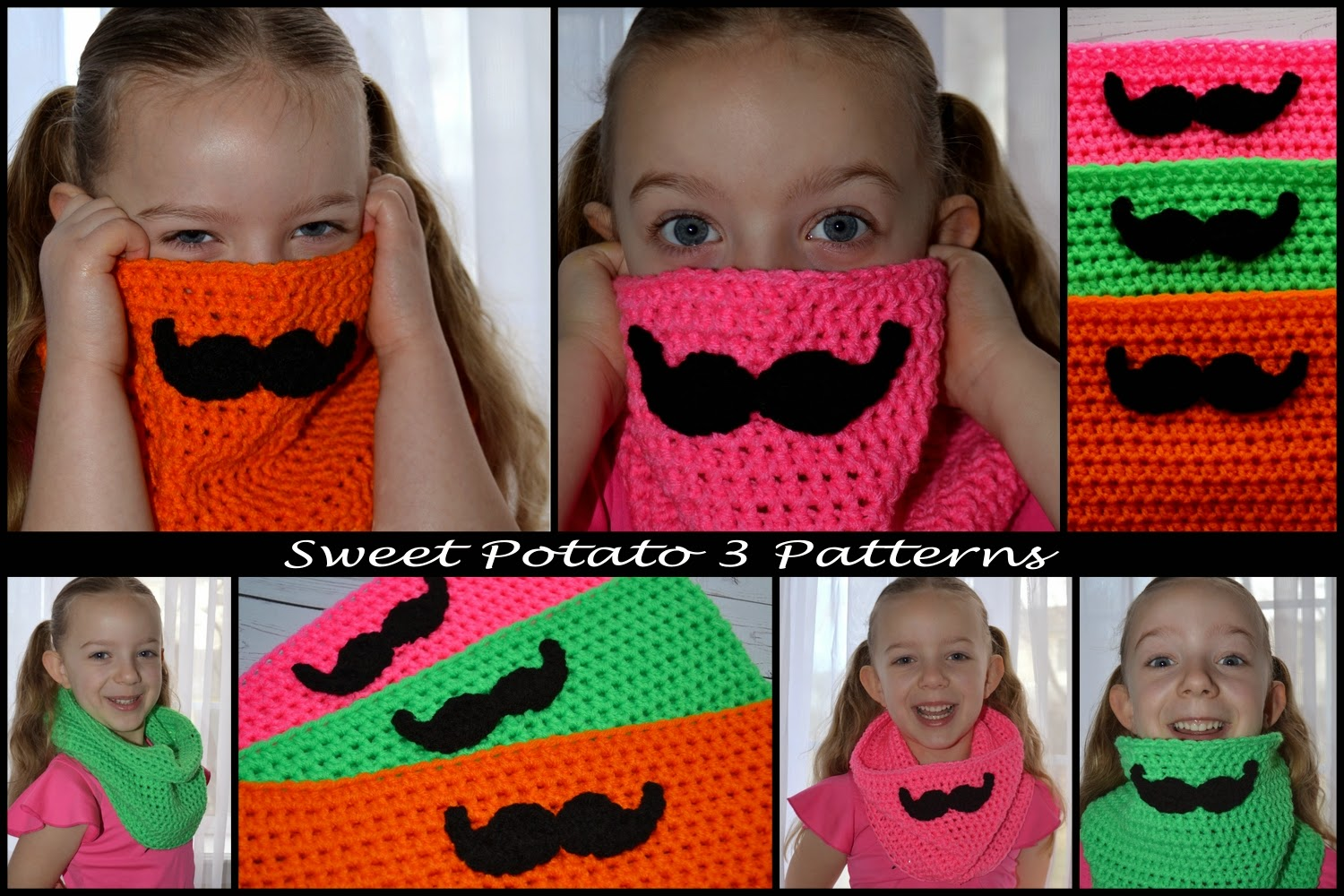 Free mustache cowl crochet pattern sweet potato 3 this fun cowl is quick to make and would be fun in any colors i personally like the vibrant and bright colors for the dreary days of winter bankloansurffo Images