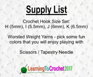 Crochet Supply List