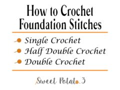 Foundation Crochet Stitches
