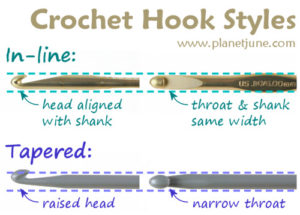 crochet hook inline vs taper